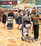 Hall serré d'aéroport de Changi Singapour Image libre de droits