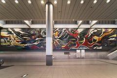 Hall SHIBUYA stacyjny prowadzić Inokashira linia i czyj fotografia stock