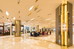 Hall in Siam Paragon shopping mall, Bangkok City Royalty Free Stock Photography