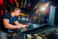 Hall of slot machines Royalty Free Stock Image