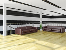 The hall with sofas Stock Images