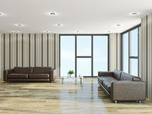 The hall with sofas Royalty Free Stock Image