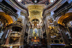 Hall of St'Peter in Vienna. Gold decoration of St' Peter in vienna Royalty Free Stock Image