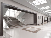 Hall with staircase Royalty Free Stock Photos