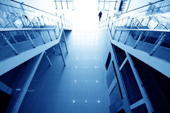 Hall stairs and escalators Royalty Free Stock Photos