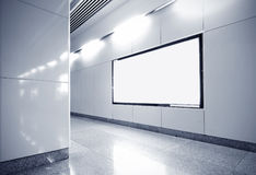 Hall subway station blank billboard Royalty Free Stock Photography