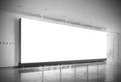 Hall subway station blank billboard Stock Photo