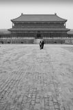 Hall of Supreme Harmony. Black and white scenic view of Hall of Supreme Harmony in Forbidden city, Beijing, China Royalty Free Stock Photography