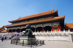 Hall of Supreme Harmony in Forbidden City Stock Photos