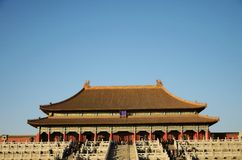 The Hall of Supreme Harmony in the Forbidden city Royalty Free Stock Image