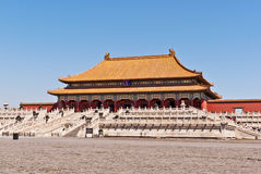 The Hall of Supreme Harmony, Forbidden City. Royalty Free Stock Images