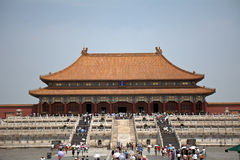 The Hall of Supreme Harmony in the Forbidden City, Beijing, Chin Stock Image