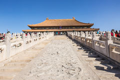 Hall of supreme harmony of the Forbidden City in Beijing in China Royalty Free Stock Photo