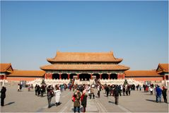 Inside the Forbidden City of Beijing royalty free stock photography