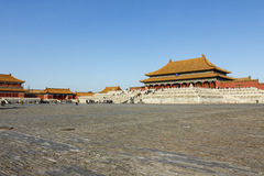 Hall of Supreme Harmony long  side Royalty Free Stock Images