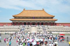 The Forbidden City, The Hall of Supreme Harmony, Gugong, Taihedian stock photography