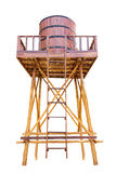 Hall of tanks for water storage tower make with wood and oak tan Stock Image