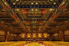 Hall of thousand Buddhas. In Po Lin Monastery Stock Images
