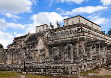 Hall of the Thousand Pillars - Columns at Chichen Itza, Mexico Royalty Free Stock Image