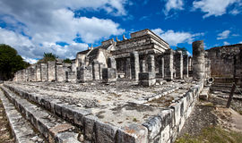 Hall of the Thousand Pillars - Columns at Chichen Itza, Mexico Royalty Free Stock Photography