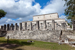 Hall of the Thousand Pillars - Columns at Chichen Itza, Mexico Stock Photo