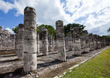 Hall of the Thousand Pillars - Columns at Chichen Itza, Mexico Stock Image