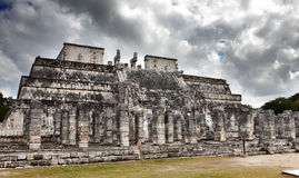 Hall of the Thousand Pillars - Columns at Chichen Itza, Mexico Stock Images