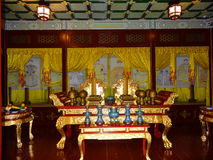The hall to worship Qing emperors and empresses. This Fengxian hall was used as a place to worship Puyis ancestors, the late emperors and empresses of Qing Royalty Free Stock Photos