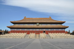 The hall to worship Qing emperors and empresses Royalty Free Stock Photos