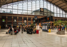 Hall of train station Lille Flandres Stock Photos