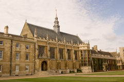 Hall, Trinity College, Cambridge. The Hall at one side of the Great Court of Trinity College, part of Cambridge University.  Built at the end of the 16th century Stock Photography
