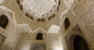 Hall of the two Sisters (Sala de las dos Hermanas) at   Alhambra Royalty Free Stock Photos
