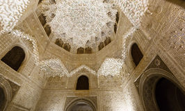 Hall of the two Sisters (Sala de las dos Hermanas) at  Alhambra Royalty Free Stock Photo