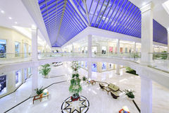 Hall of two-story Crocus City Mall Royalty Free Stock Images