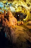 Ursus spelaeus cave in romanian mountains transilvania. Hall of Ursus spelaeus cave in noth-west romanian mountains bihor district transilvania Royalty Free Stock Photography