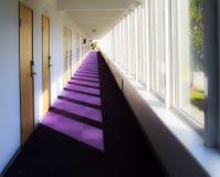 Hall väg i brunnsorthotell arkivbild