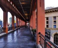 Hall väg i Westfield Horton Plaza Shopping Center arkivfoton