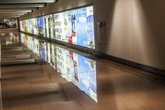 Hall vide d'arrivées à l'aéroport Hambourg Photo libre de droits