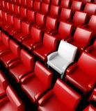 Hall vide de cinéma avec la salle Photos stock
