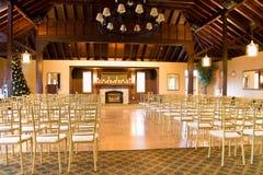 Hall vide de réception de mariage Image stock