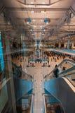 Hall von Flughafen Moskaus Domodedovo Stockfotos