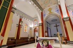 Hall von wuxingjie Kirche Innen, luftgetrockneter Ziegelstein rgb Stockbild