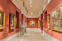 Hall w Pushkin stanu muzeum sztuki piękna w Moskwa, Rosja Zdjęcia Stock