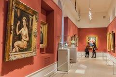 Hall w Pushkin stanu muzeum sztuki piękna w Moskwa, Rosja Obraz Royalty Free