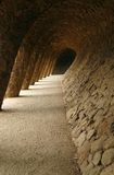 Hall of Waves in the Park Guell (Barcelona, Spain) Stock Photography