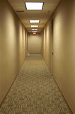 Hall Way to Exit Stock Images