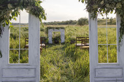 Hall wedding ceremony. Hall marriage ceremony in the open air Stock Photo