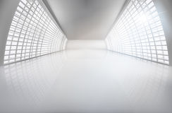 Hall, wide open space. Vector illustration. Stock Photos