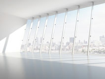 Hall with windows. 3d render Stock Images