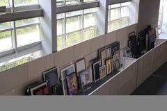 The hall of xiamen art museum stock photos